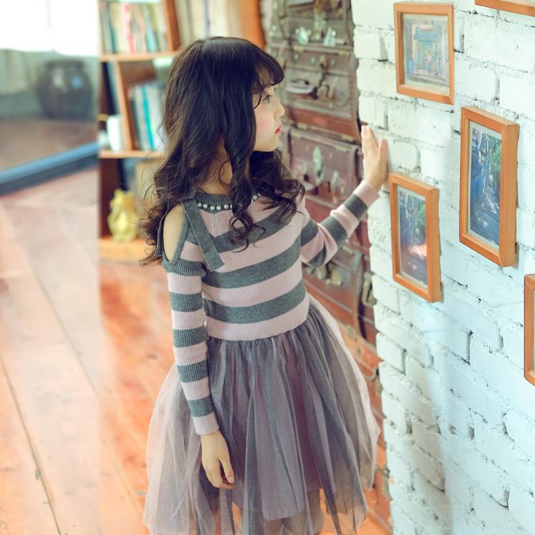 7172ba51bf7d0c 2018 baby jurk kinderen jurken ontwerpen kids party jurken Herfst lange  mouwen warm meisje kerst jurk