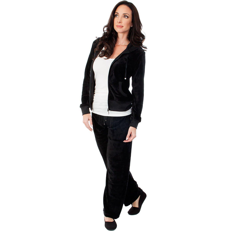 e9e075a55c411 Get Quotations · Agiato Apparel Women s Zip up Plush Soft Velour Jogging  Track Suit