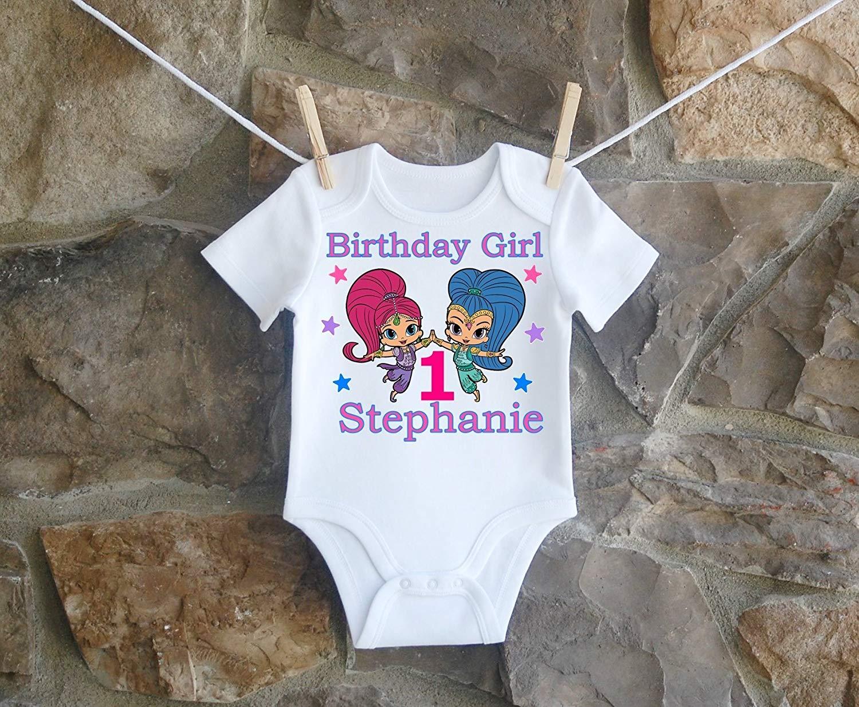 Shimmer And Shine Birthday Shirt, Shimmer And Shine Birthday Shirt For Girls, Personalized Girls Shimmer And Shine Birthday Shirt, Customized Shimmer And Shine Birthday Shirt