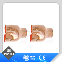 Air conditioner parts distributing copper Pipe y tee