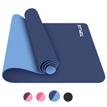 high density Eco-friendly TPE NBR health exercise light weight 6mm thickness yoga mat
