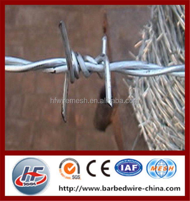 China potective material building barbed wire fences,security fence barbed wire,galvanized barbed wire fence
