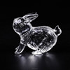 12 chinese zodiac animal rabbit shape glass figurines for home decoration