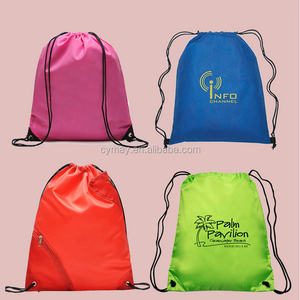 Manufacturer polyeste bag recycle 190T carrier tote drawstring bag