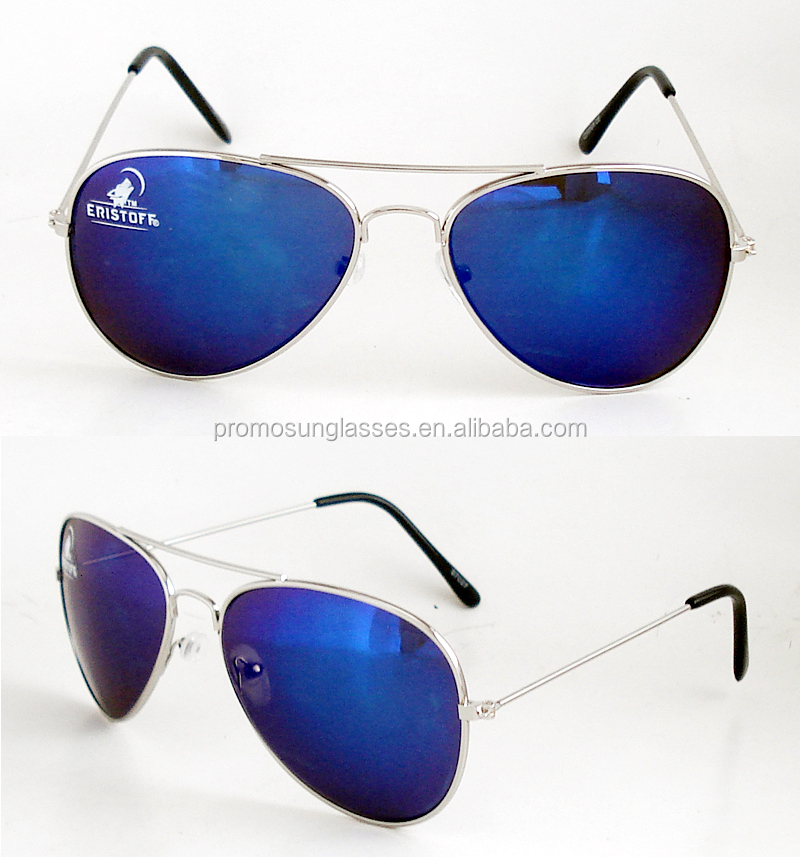 UV400 Blue mirror lense aviator sunglasses with very good price for promotion use