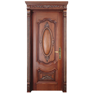 Modern Design Carved Exterior Solid Teak Paint Colors Wood Doors
