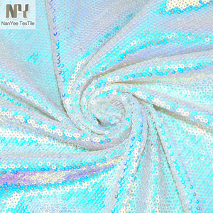 Nanyee Textile Pearl Iridescent Shimmer Glisten Sequin Fabric Clothes For DIY