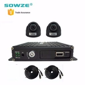 CCTV H.264 4CH AHD Mobile DVR Kit with 4G WIFI GPS Support Remote View on Smart Phone or Computer
