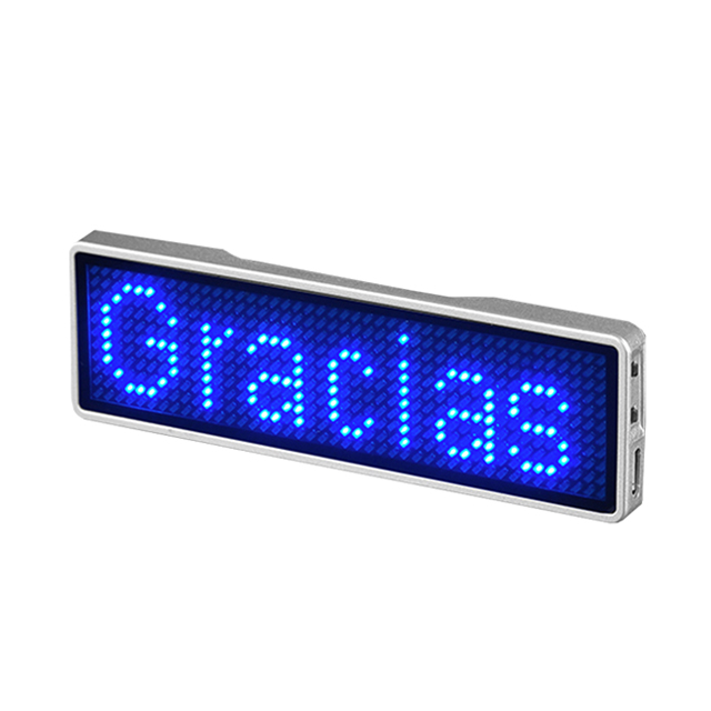 Electronic Components & Supplies Led Displays App Neon Sign Control Board Blueteeth Led Name Tag Business Card Screen Digital Rechargeable Id Tag For Restaurant Shop Office Superior Materials