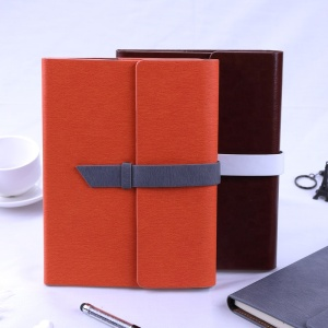 High quality genuine leather notebook diary journal with a5 hardcover 6 ring binder notebook for promotional&travelers