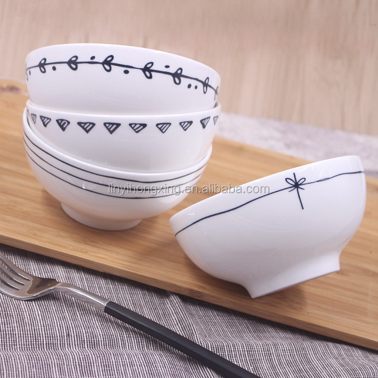 China supplier new design custom porcelain rice soup bowl