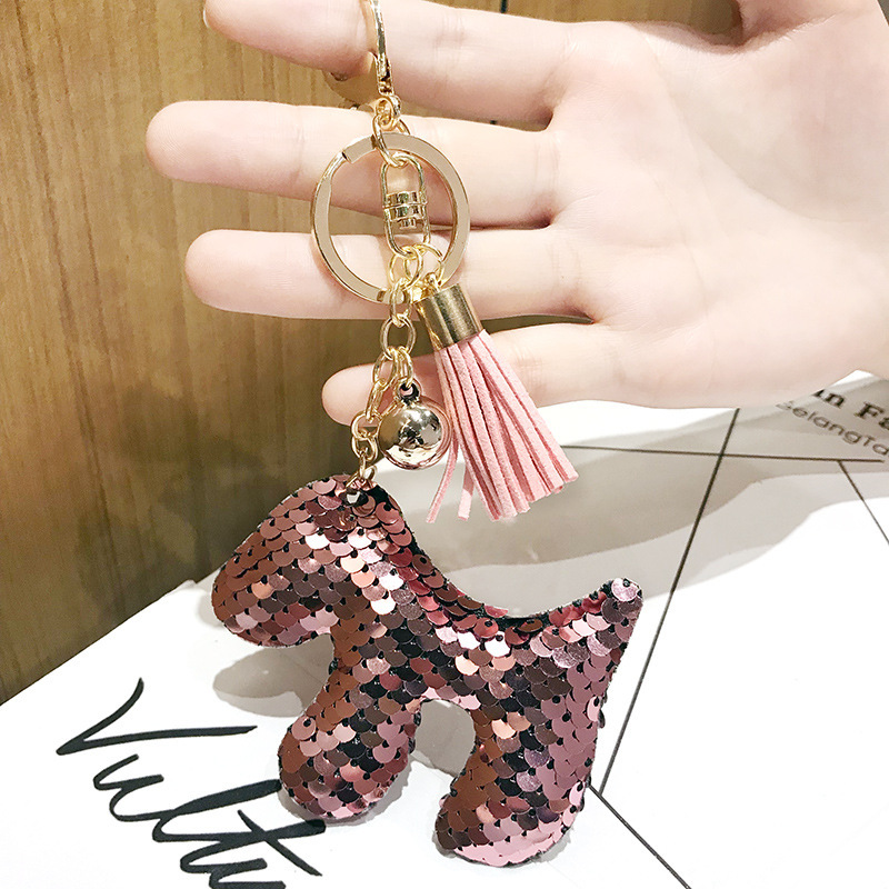 Small horse Sequin keychain couple love keychains for gift animal keychain for kids