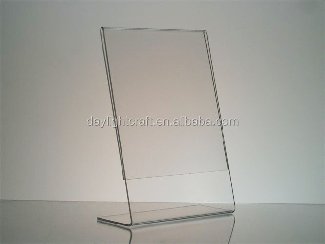 Promotional Acrylic Display Stand,5x7 Plastic Photo Frame