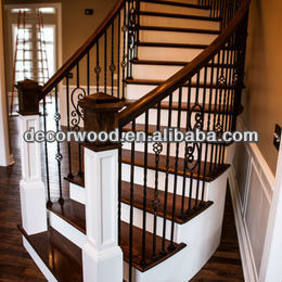 Walnut Stair Treads And Handrails White Risers