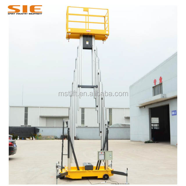 China Hot Sale 10 meters Hydraulic telescopic ladder electric man lift