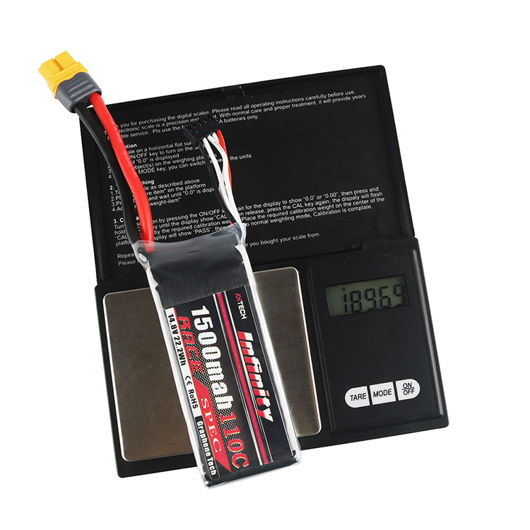 Infinity Graphene LiPo Drone Battery 1500mAh 110C 4S 14.8V SY60 Plug Compatible with XT60 for Racing Drone Multirotors