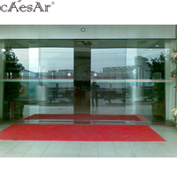 Caesar best price ES200 commercial automatic tempered frosted glass sliding doors for entrance