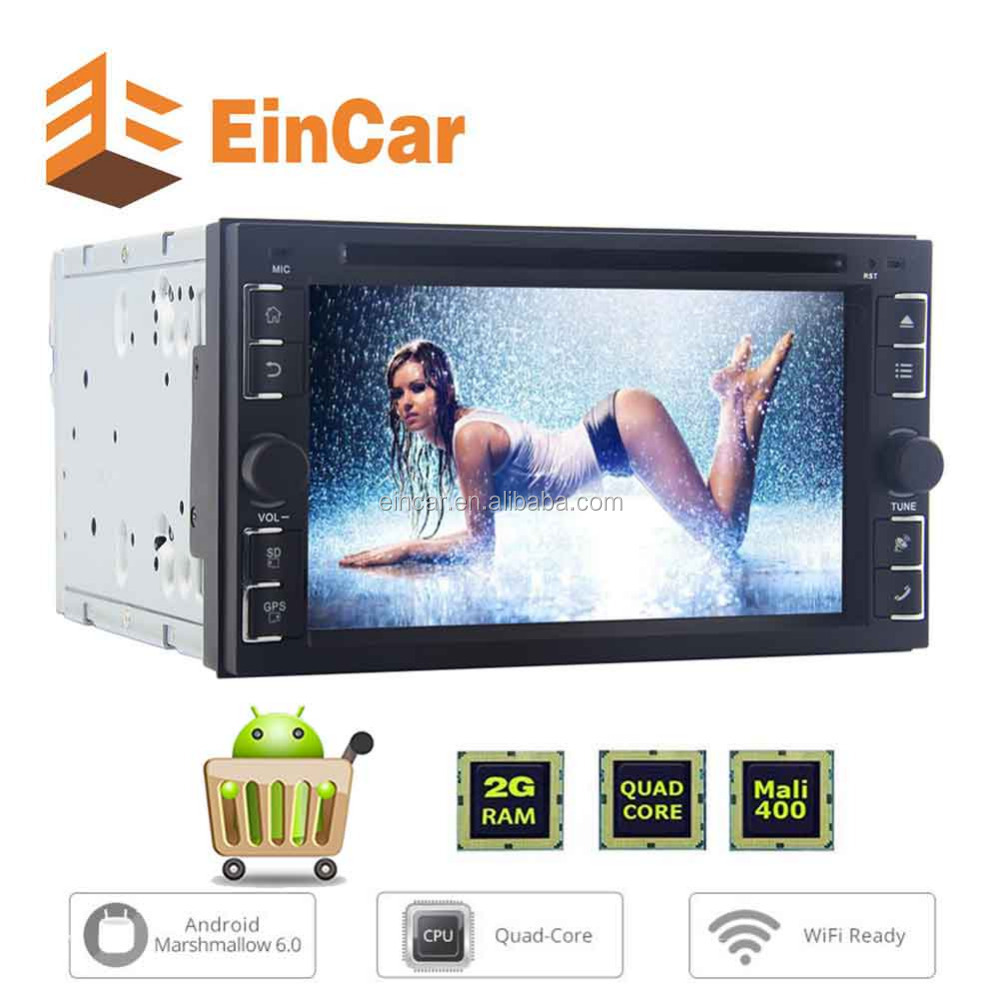 2GB RAM 2Din Android 6.0 Car Stereo 1080P Touch Screen Sat Nav Headunit DVD Player GPS Autoradio WIFI SWC BT Radio Receiver OBD2