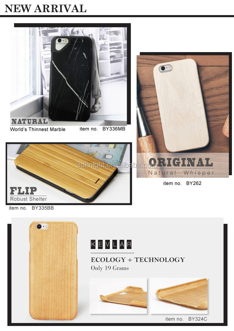 Wholesale Premium Wood Mobile Phone Flip Cover Case / Card Slots Flip Case for iphone 6s