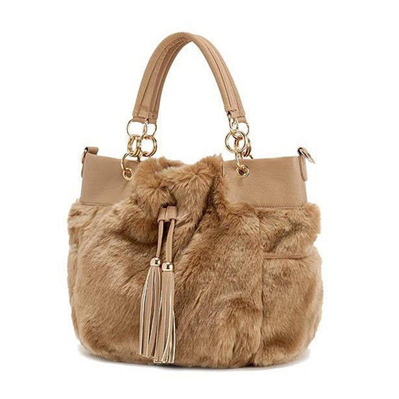 Get Quotations · 2015 Upscale Fake Rabbit Fur Handbags Tote Casual Bag  Winter Bolsas Femininas Designer Handbags High Quality 09ddbc9c876