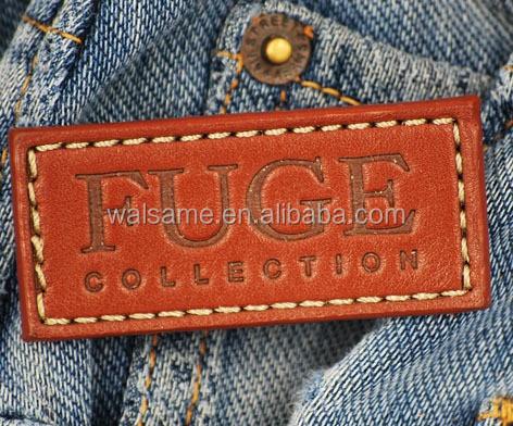 039c46373e Personalizado de cuero pantalones vaqueros de etiquetas Etiqueta de cuero  para vaqueros etiqueta negra de la