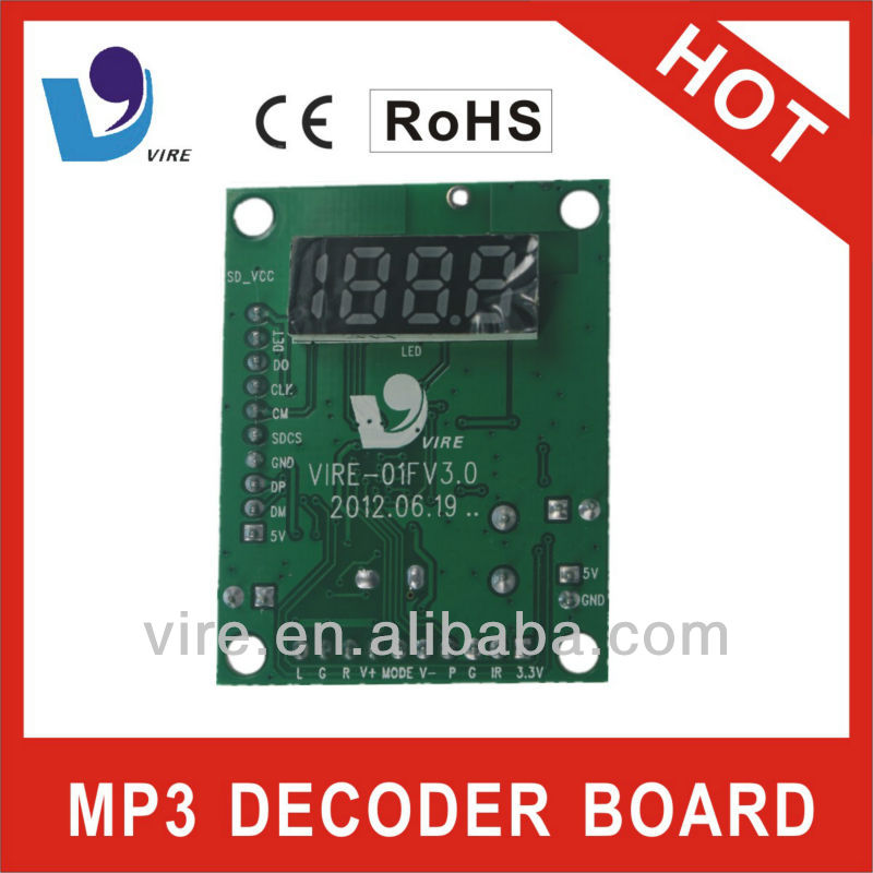 vcd player mp3 remote control board for mp3 player