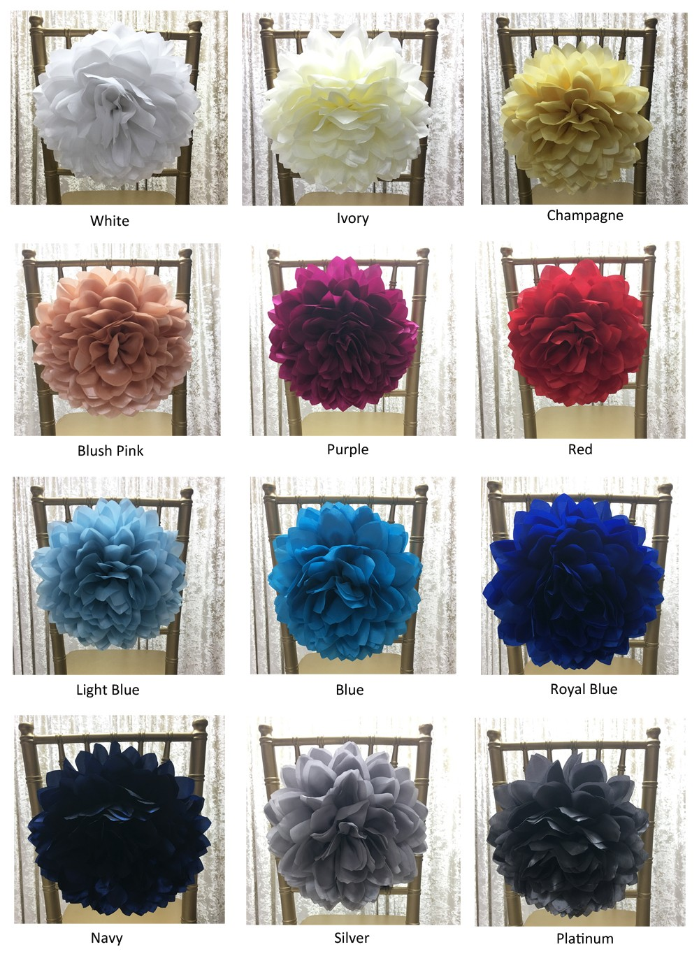 FQ00058 cheap fancy champagne color flower sash for chair/chair cover