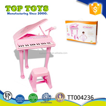 Plastic educational toy piano electric keyboard piano toy with microphone