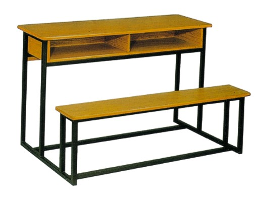 Cheap antique modern double set School desk and bench chair furniture