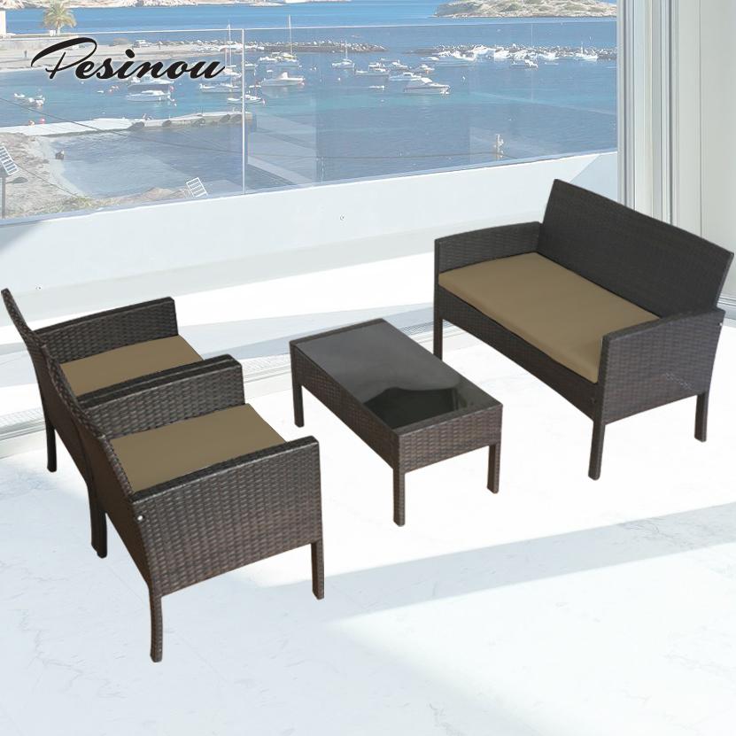 Beste goedkope bistro set rieten rotan sofa tuinmeubelen set met zwarte kleur woonkamer sofa - Sofa zitplaatsen zwarte ...
