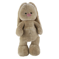 Custom Long Ear Grey Stuffed Bunny Rabbit Plush Toy