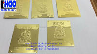 Brass material nameplate for France Rhum bottle, Well polished gold plated metal brass Rhum label