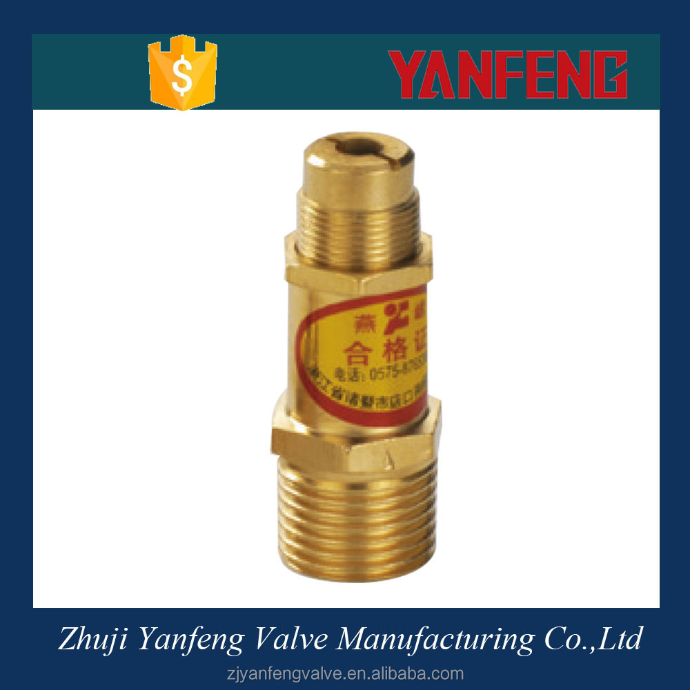 Manufacture Brass Spring Loaded Steam Boiler Safety Valve