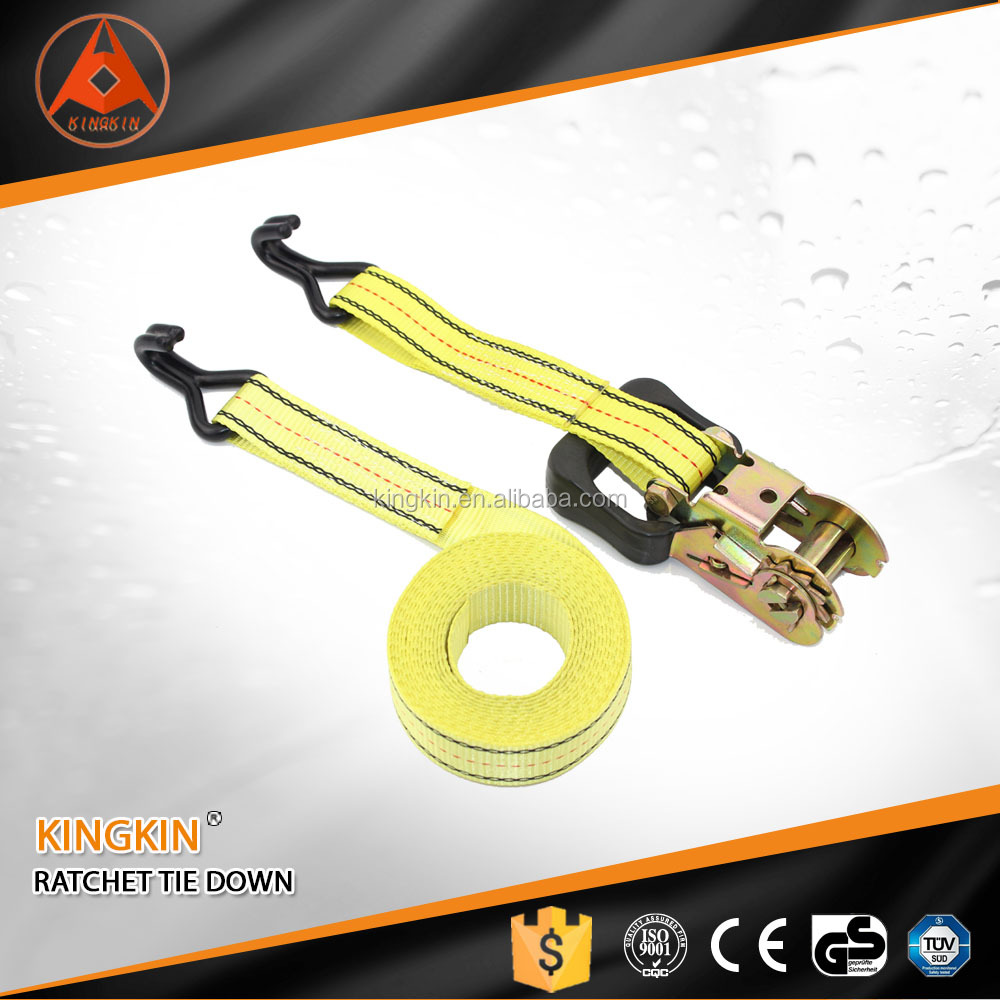 plastic double j hook GS CE ISO 9001 Certificate pipe strap winch strap plastic ratchet strap for lifting