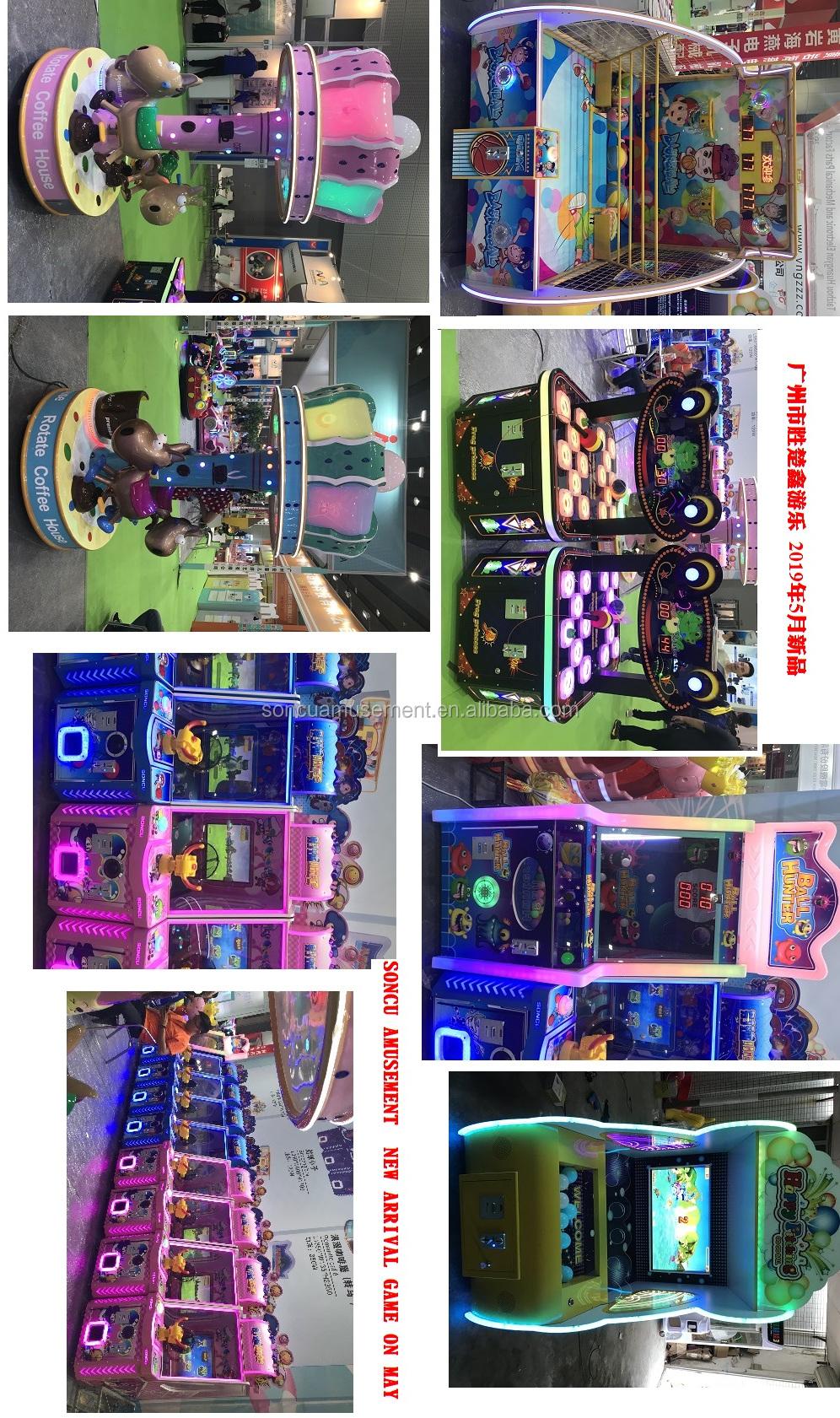 New children's happy pitching machine and playing lottery game machine