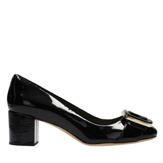 Charme et de mode italien style femmes noir en cuir verni chaussures