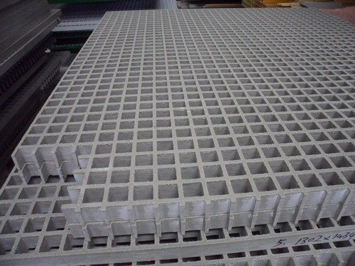 Fiberglass Plastic Floor Grid Floor Grating With Grit