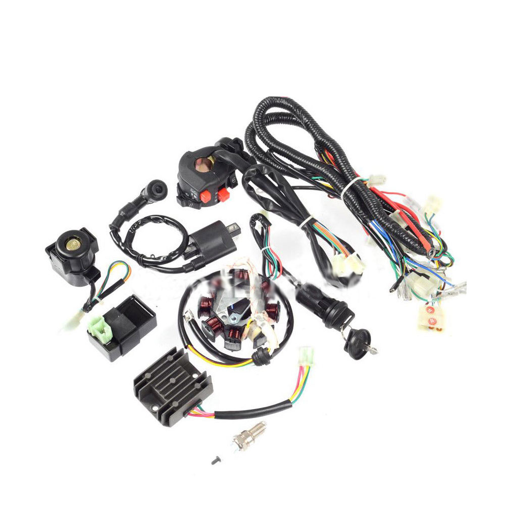 atv wiring harness full electrics wiring harness kit for atv quad 150/200/ 250cc stator cdi - buy atv wiring harness,wiring harness kit,cdi wiring  harness kit product on alibaba.com  alibaba.com
