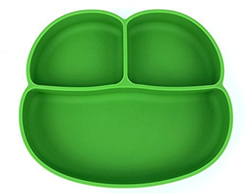 Pal N Zen Silicone Placemat with suction for toddlers, frog travel plates for kids, non slip silicone placemat for baby