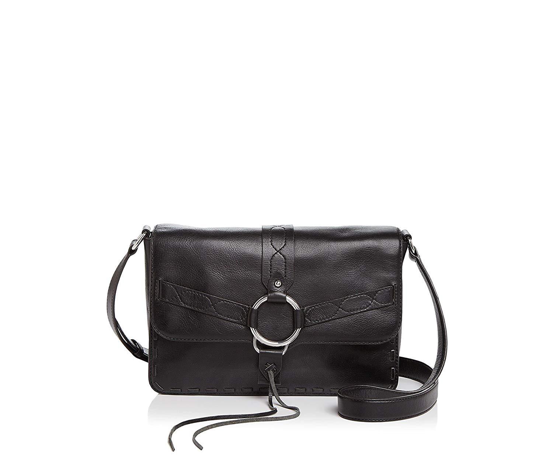 Rebecca Minkoff Darling Leather Shoulder Bag Black/Silver