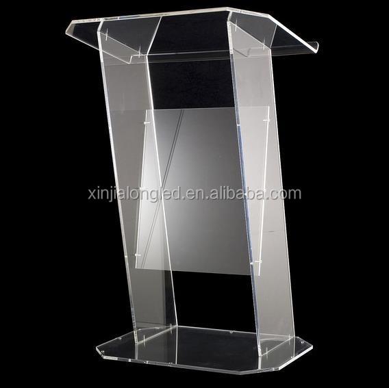 Clear Acrylic Furniture Clear Acrylic Lectern Floor Standing Church Desk