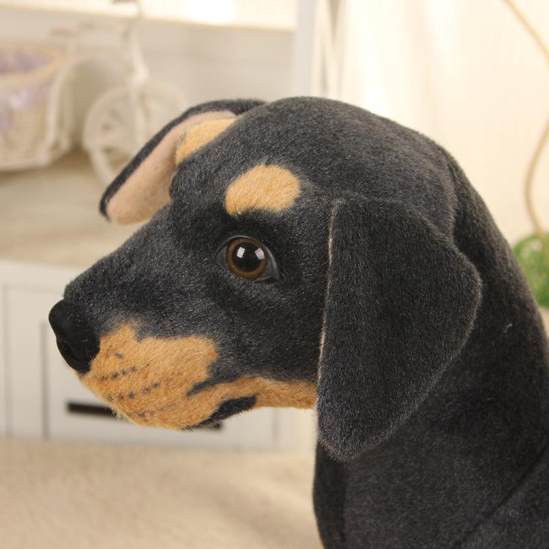 Almofada macia do lance do cão 27x25cm de rottweiler da simulação do brinquedo do luxuoso