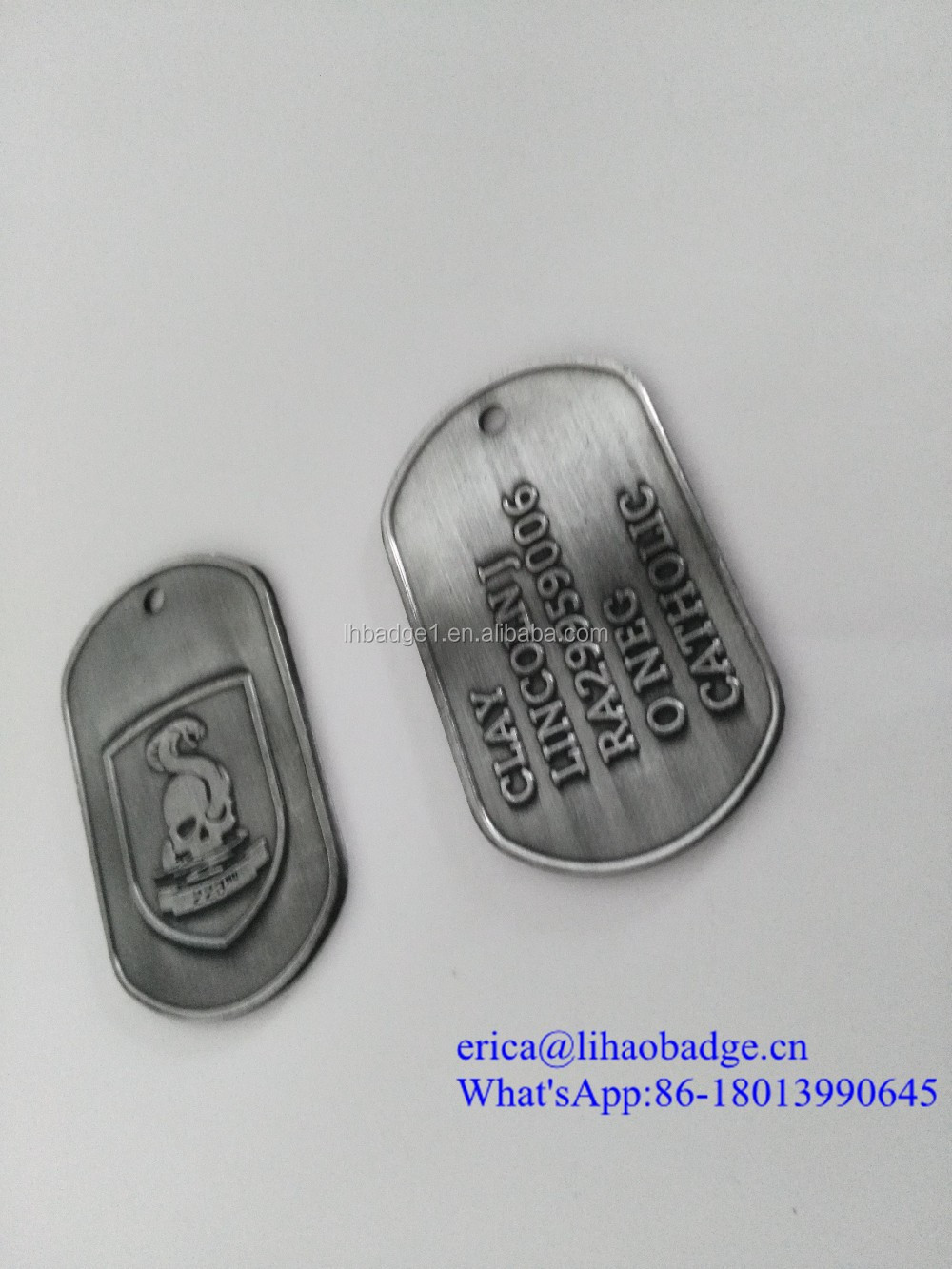 Best Quality Metal Business Card Dog Tags,Wholesale Military Dog ...
