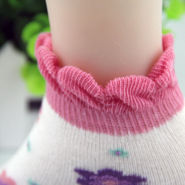 BSP-33 Custom comfortable cute picto cuff socks for baby