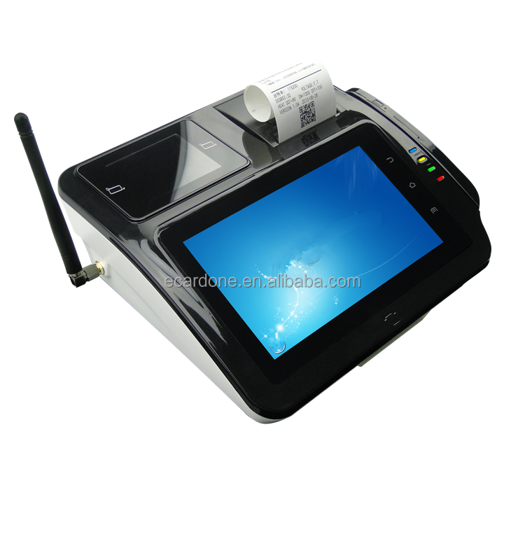 "7""inch android rugged tablet pos/ barcode scanner printer NFC/RFID reader pos terminal"