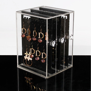 wholesale clear acrylic display box for earrings