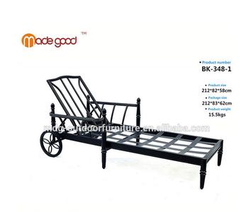 Aluminum Folding Webbed Lawn Chair Chaise Lounge Chair