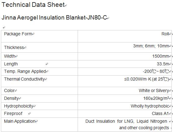 Aerogel Thermal Blanket JN80-C - Coowor com