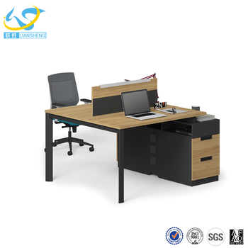 Fashionable Office Table Computer Desk 2 Person Workstation