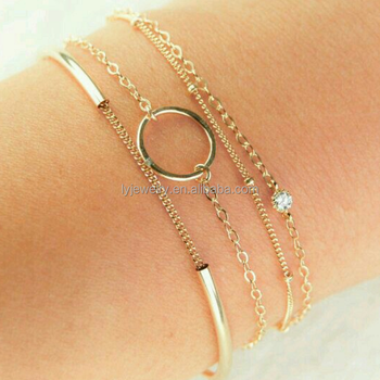 Gold Color Girl Simple 925 Sterling Silver Bracelet Lyb0002 Buy